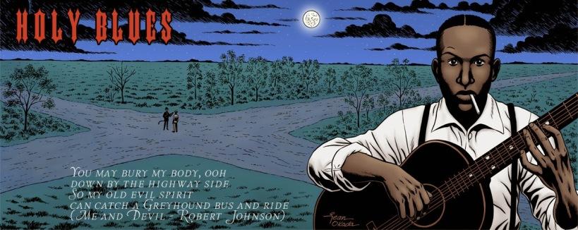 Ilustração para a rádio Holy Blues