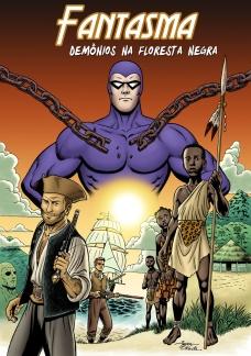 Ilustração para um conto do Fantasma, publicado pela Frew Publications