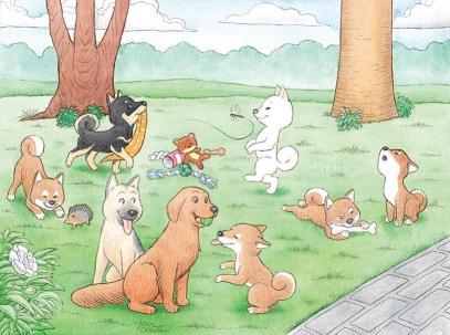 Ilustração para o Canil Shiba Inu
