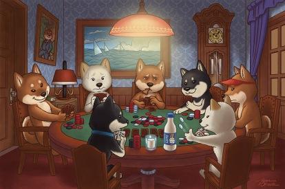 shibas jogando poker_alta-res
